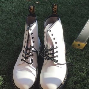 Dr Martens 1460 white smooth leather